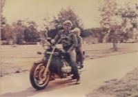 Táta a já na Hondě Goldwing 1. v Československu